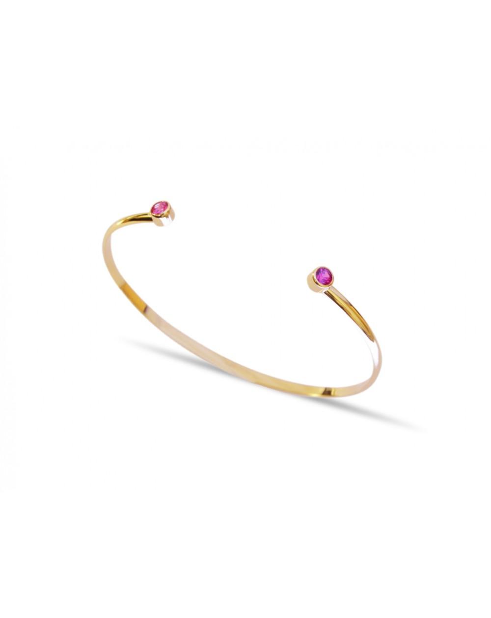Bracelet Or jaune et Saphirs Roses